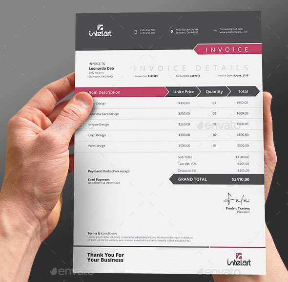 Graphic Design Invoice Template Indesign 37 Best Psd Invoice Templates for Freelancer – Bashooka