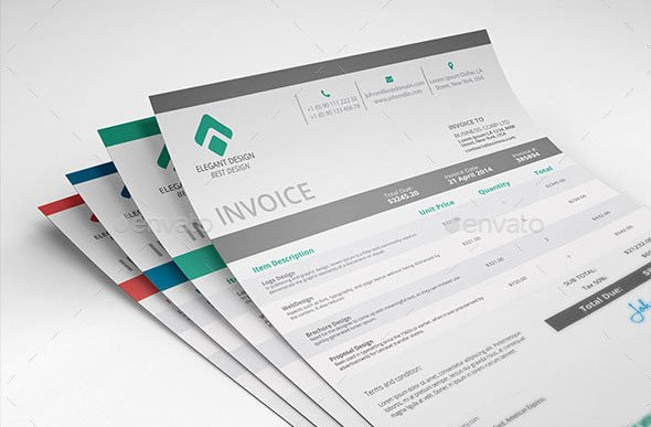 Graphic Design Invoice Template Indesign 37 Best Psd Invoice Templates for Freelancer
