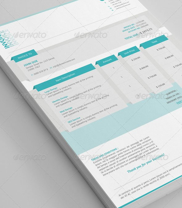 Graphic Design Invoice Template Indesign Best Invoice & Proposal Templates Indesign