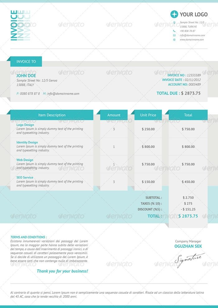 Graphic Design Invoice Template Indesign Graphic Design Invoice Template Indesign 10 Exciting Parts