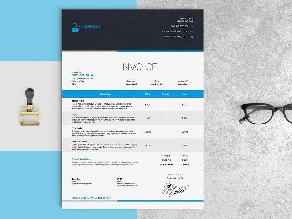 Graphic Design Invoice Template Indesign Invoice Template Indesign