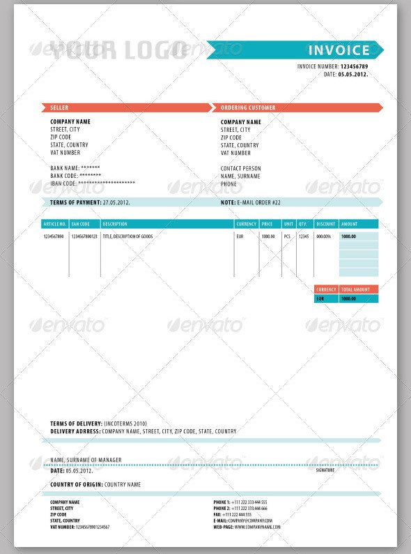 Graphic Design Invoice Template Indesign Invoice Templates