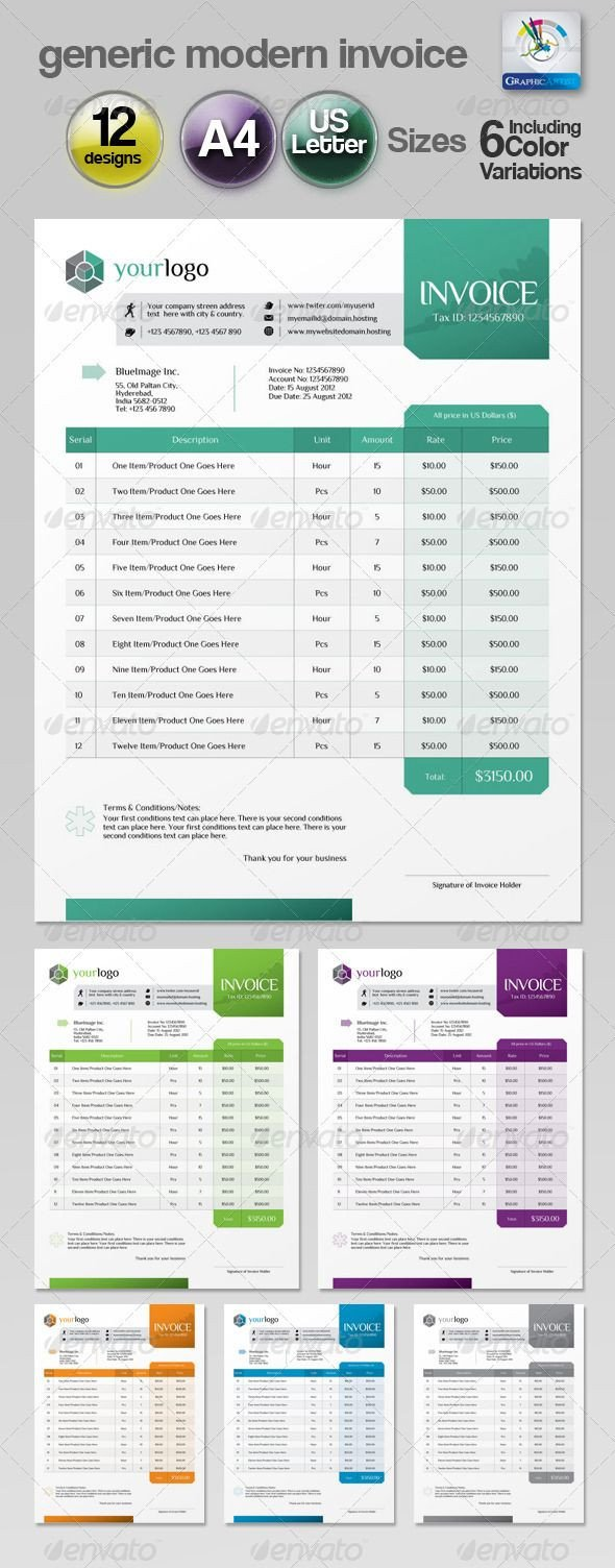 Graphic Design Invoice Template Indesign Pin by Best Graphic Design On Proposal & Invoice Templates