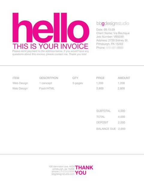 Graphic Design Invoice Template Invoice Like A Pro Design Examples and Best Practices