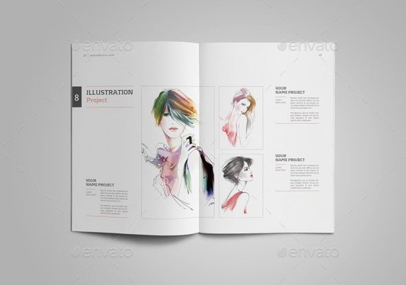 Graphic Design Portfolio Template 25 Really Awesome Portfolio Brochure Templates – Bashooka