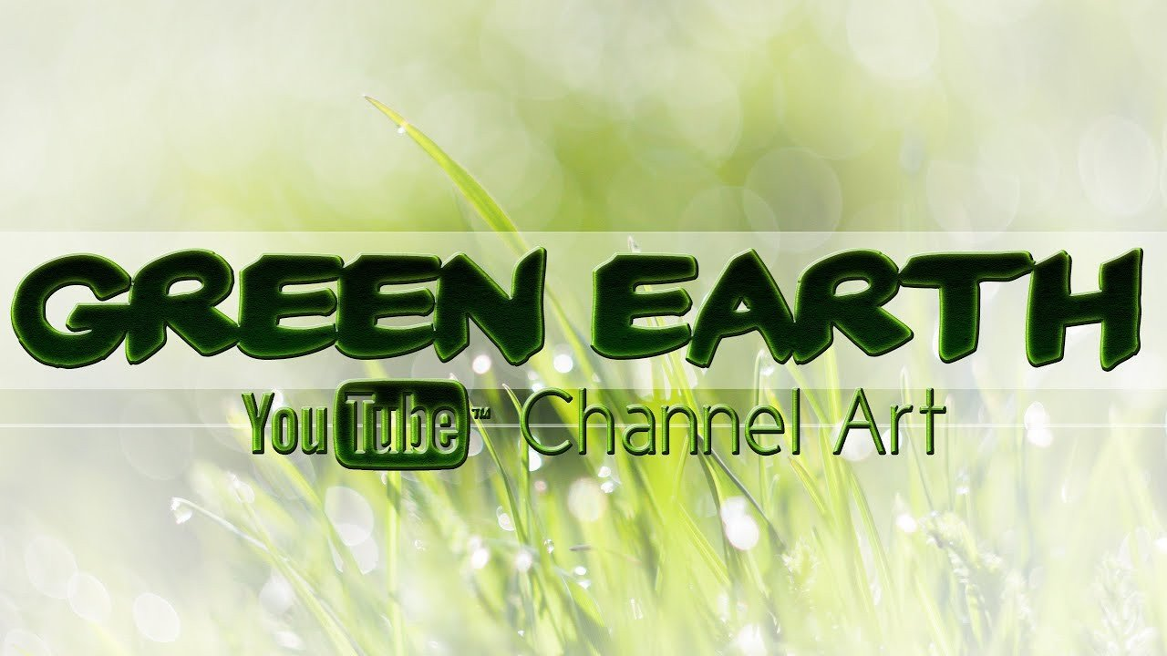 Green Channel Art Green Earth Channel Art Template Shop Psd