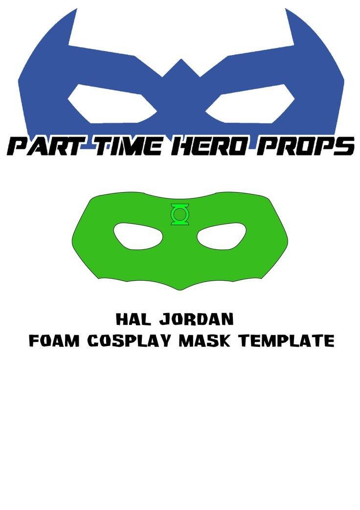 Green Lantern Mask Template Best 25 Green Lantern Mask Ideas On Pinterest