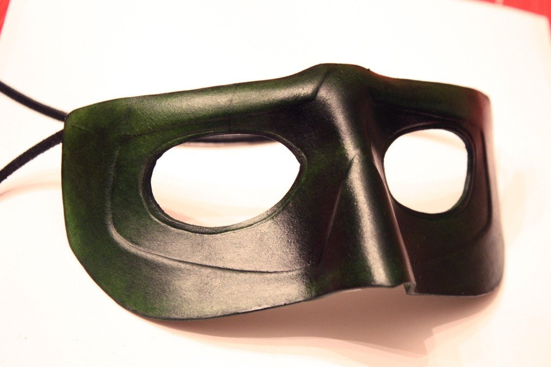 Green Lantern Mask Template Green Lantern Handmade Leather Mask
