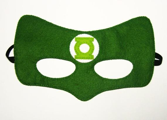 Green Lantern Mask Template Green Lantern Superhero Mask 2 Years Adult Size Fun soft