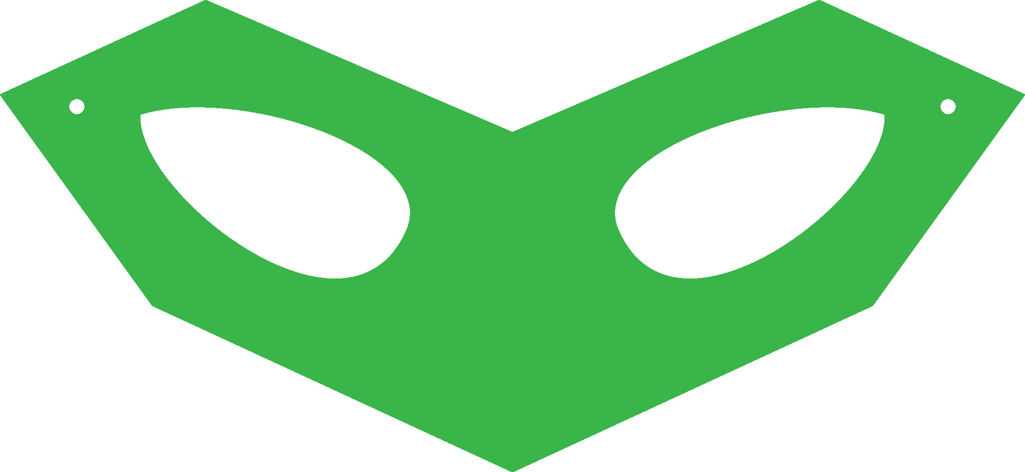 Green Lantern Mask Template Printable Halloween Masks