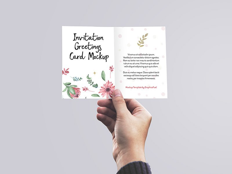 Greeting Card Mockup Free 40 Best Greeting Invitation Card Mockups for Graphic