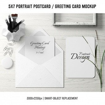Greeting Card Mockup Free Cards Psd 900 Free Psd Files