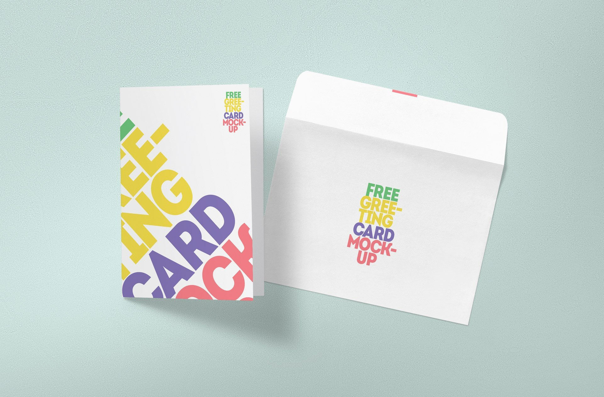 Greeting Card Mockup Free Free Greeting Card Mockup