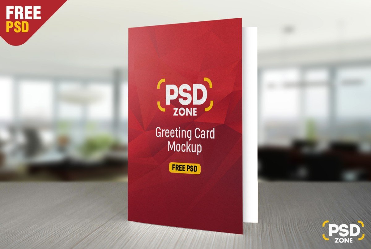 Greeting Card Mockup Free Free Greeting Card Mockup Psd Download Psd