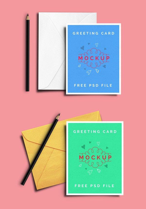 Greeting Card Mockup Free Free Psd Mockup Templates 28 Mockups
