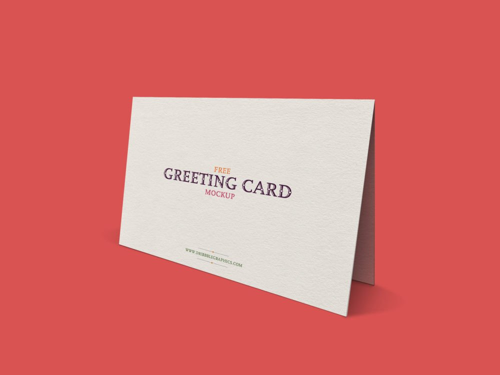 Greeting Card Mockup Free Free Standing Greeting Card Mockup