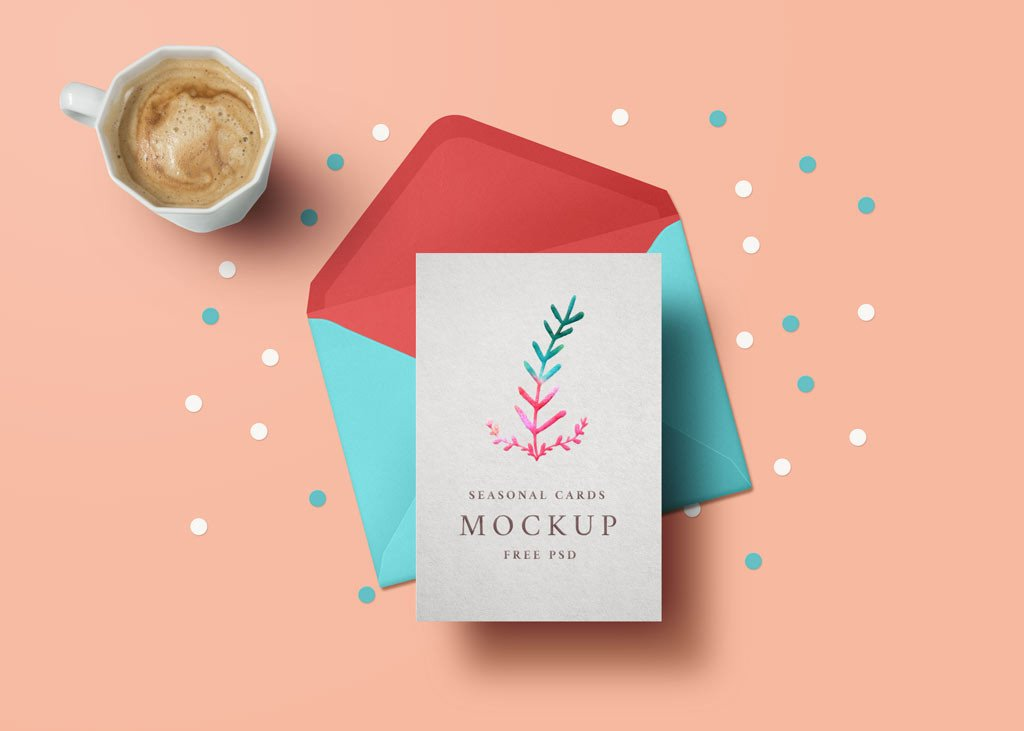 Greeting Card Mockup Free Greeting Card Mockup
