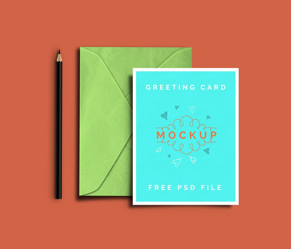 Greeting Card Mockup Free Greeting Card Psd Mockups Graphicsfuel