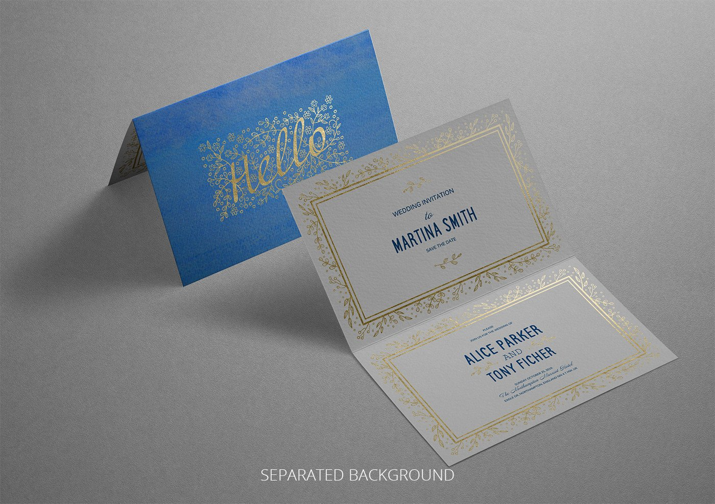 Greeting Card Mockup Free Realistic Invitation & Greeting Card Mockup On Behance