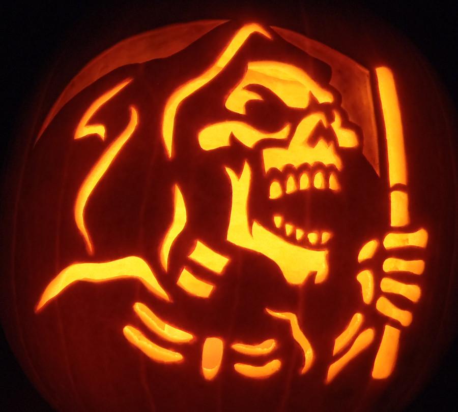 Grim Reaper Pumpkin Pattern 24 Spooky Pumpkin Carving Ideas