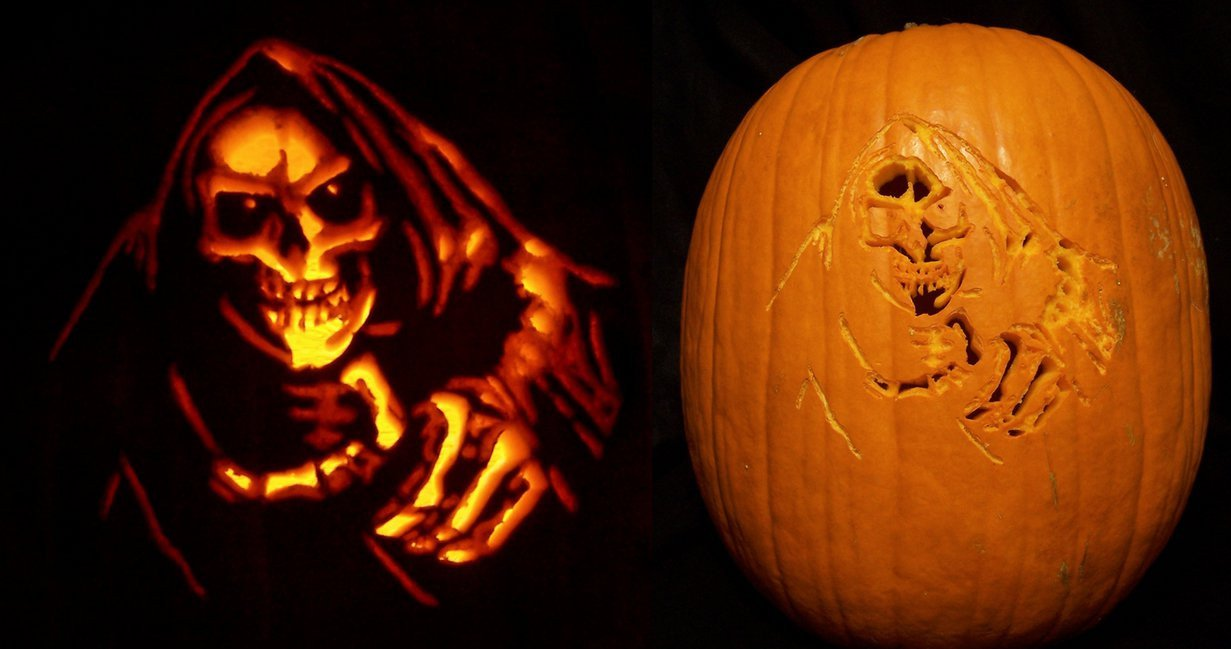 Grim Reaper Pumpkin Pattern Grim Reaper Pumpkin by Kamose On Deviantart