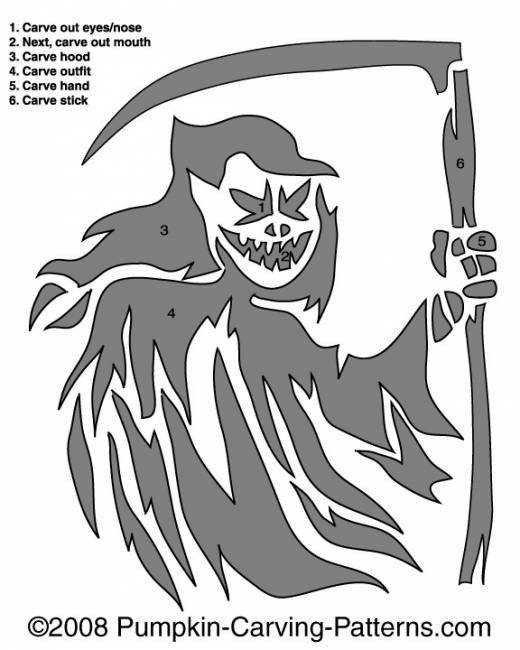 Grim Reaper Pumpkin Pattern Grim Reaper Pumpkin Carving Pattern