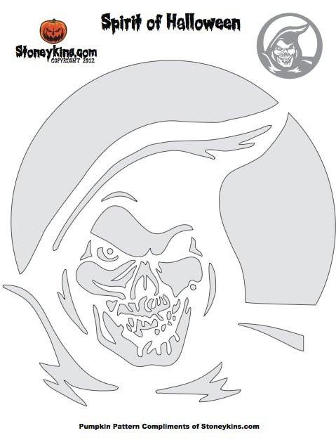 Grim Reaper Pumpkin Pattern Grim Reaper Pumpkin Stencil