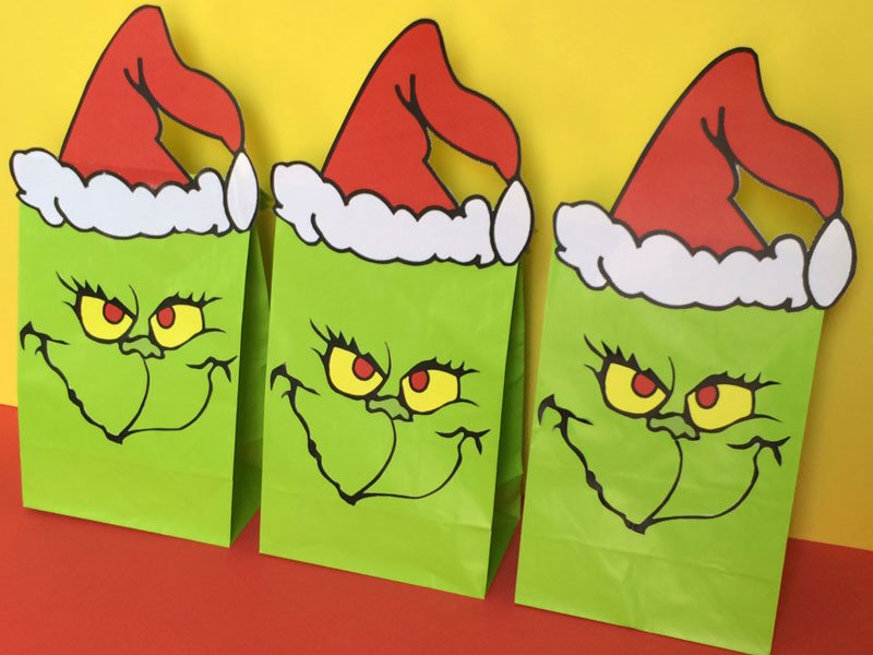 Grinch Eyes Template Grinch Favor Bags