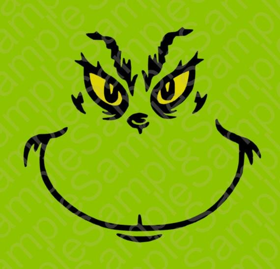 Grinch Eyes Template Grinch Inspired T Shirt Face Svg and Dxf Cut by