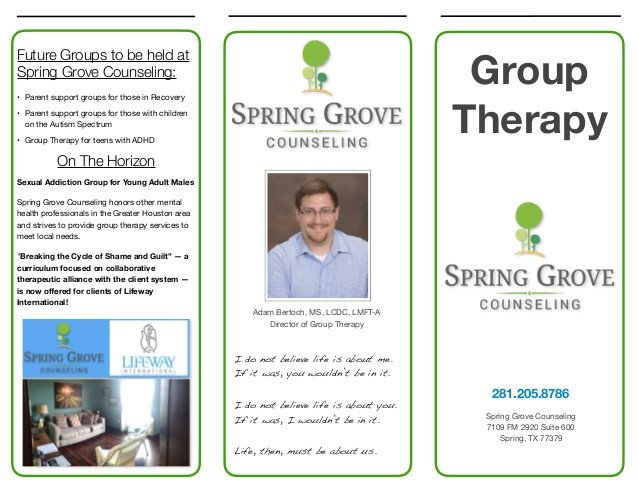 Group therapy Flyers Group therapy Brochure