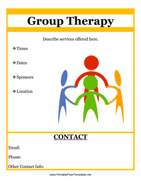 Group therapy Flyers Group therapy Flyer