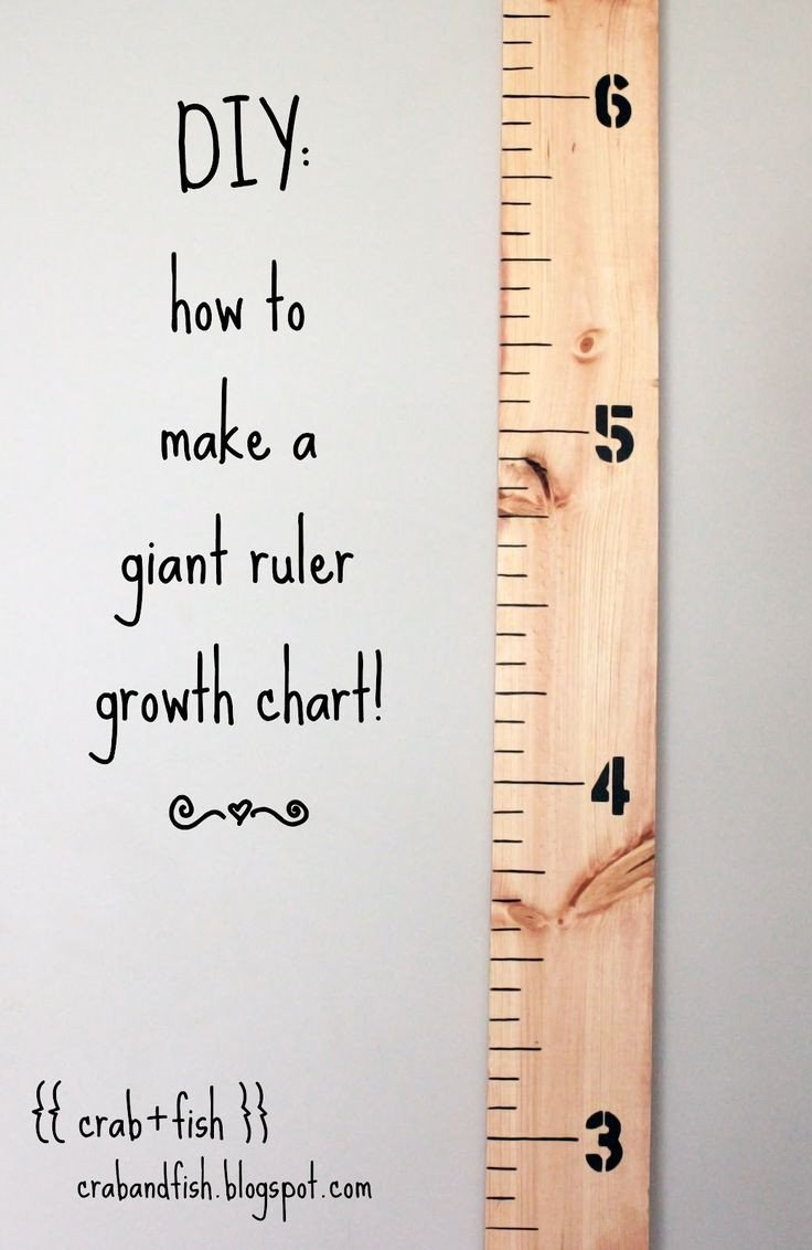 Growth Chart Ruler Template How to Make A Giant Diy Ruler Growth Chart I Deff Gotta