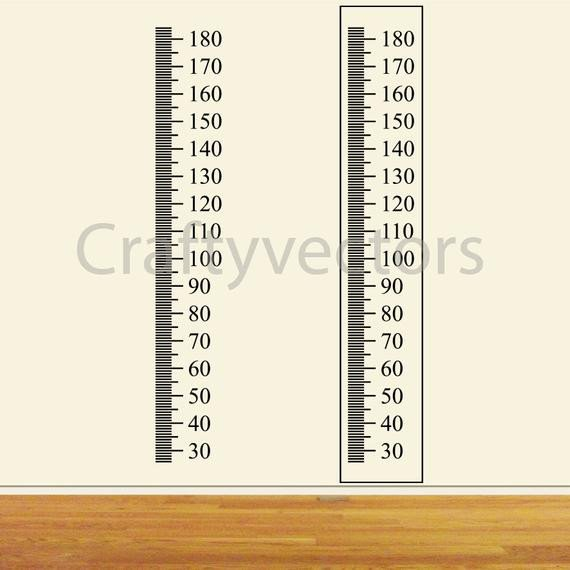 Growth Chart Ruler Template Ruler Growth Chart Vector Template Centimeters