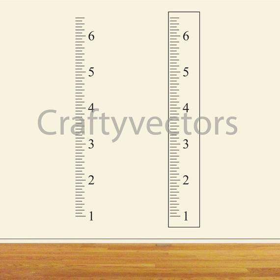 Growth Chart Ruler Template Ruler Growth Chart Vector Template Inches