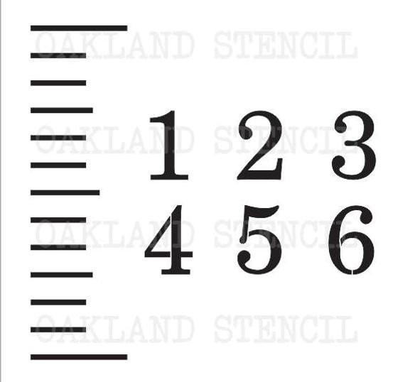 Growth Chart Ruler Template Stencils for A Growth Chart Ruler Ticks and