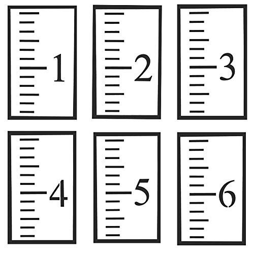 Growth Chart Ruler Template Yznlife 6ft Growth Chart Ruler Stencil Reusable Ruler