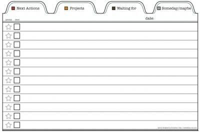 Gtd Project Planning Template 4x6 In Printable Template for Gtd to Do List