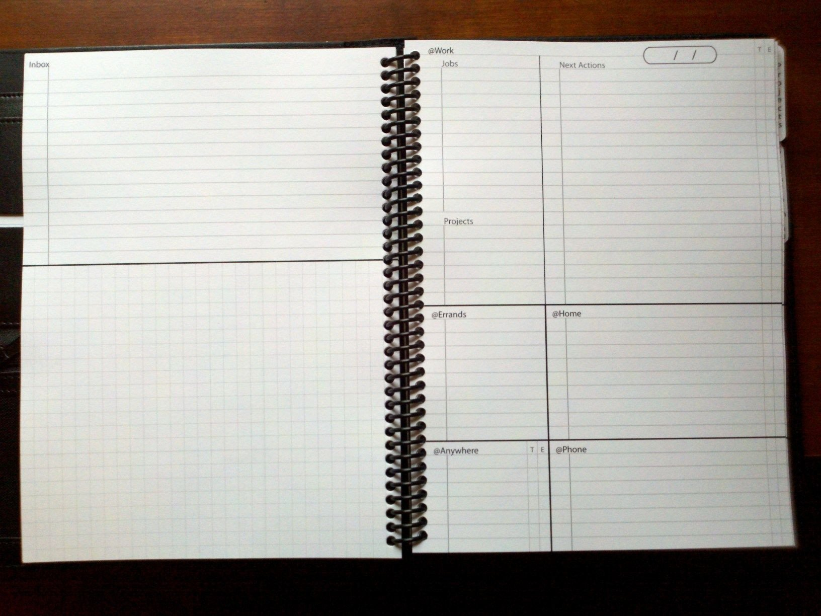 Gtd Project Planning Template Custom Gtd Notebook Next Actions List Gtd