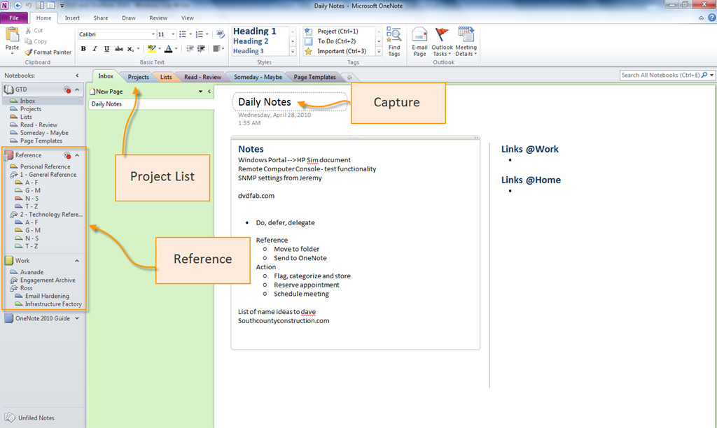 Gtd Project Planning Template Dynamic It