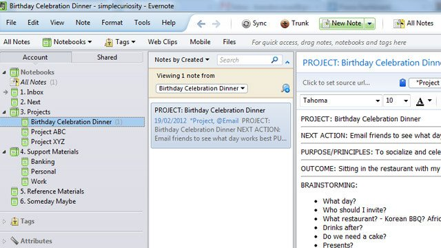 Gtd Project Planning Template Get Things Done with Evernote Using Gtd Templates
