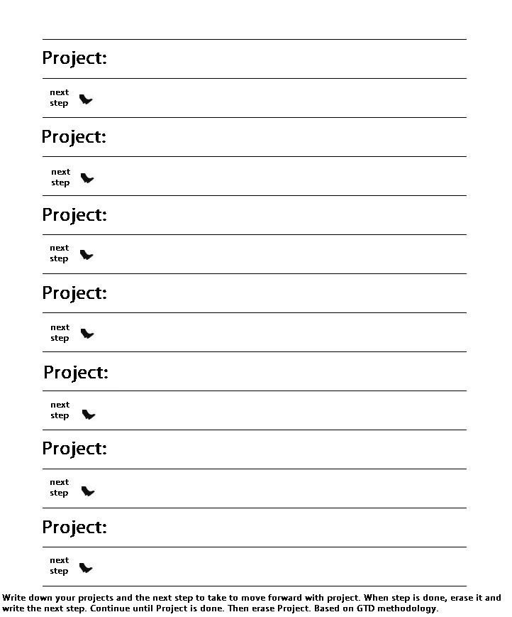 Gtd Project Planning Template Ipadpapers Gtd Paper Templates