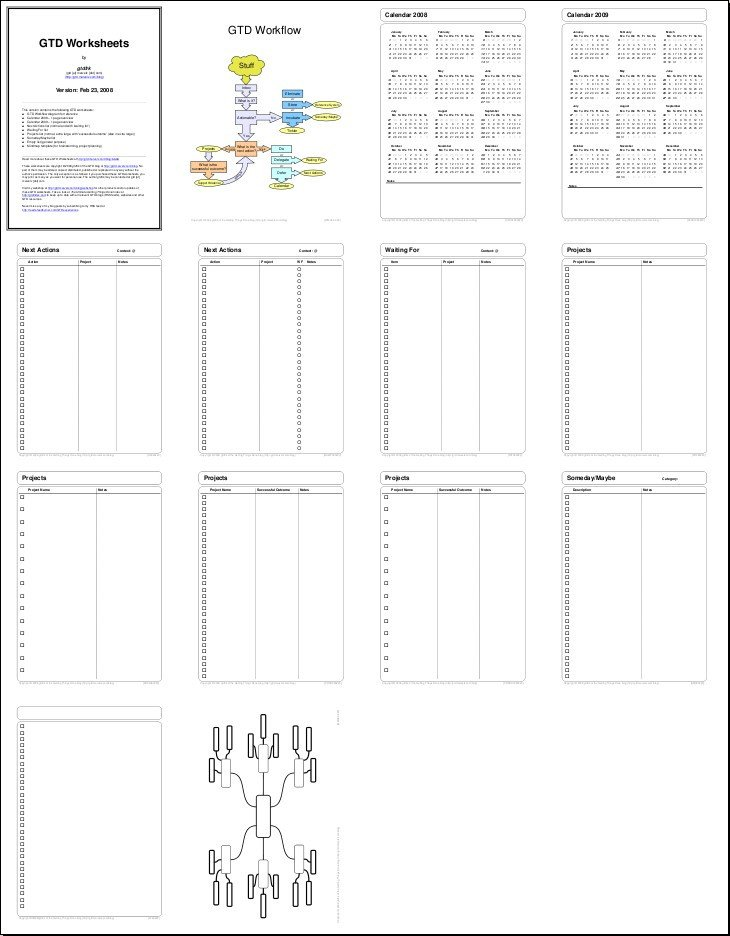 Gtd Project Planning Template My Gtd Products Getting Things Done