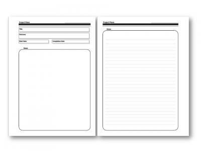 Gtd Project Planning Template Plan Project Planners On Pinterest