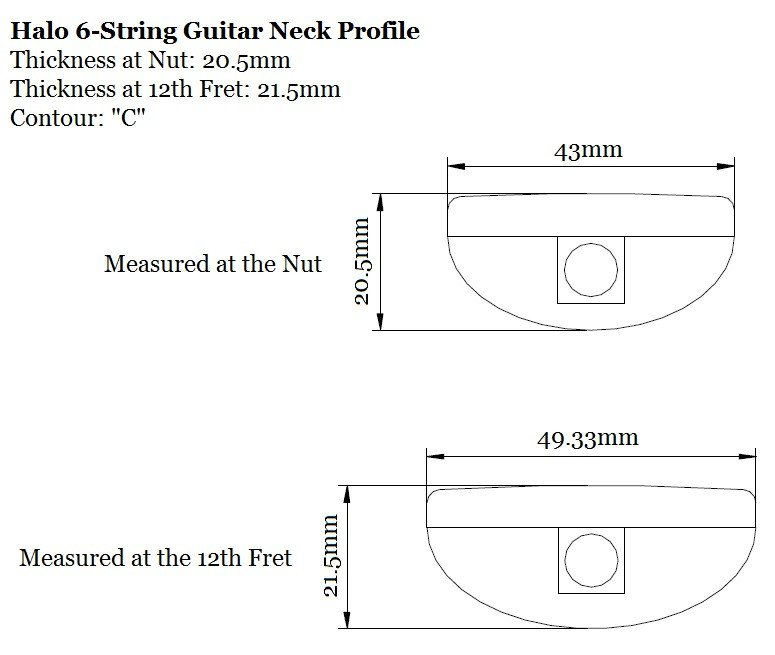 Guitar Neck Profile Template Anatomy Of A Halo Guitar Neck