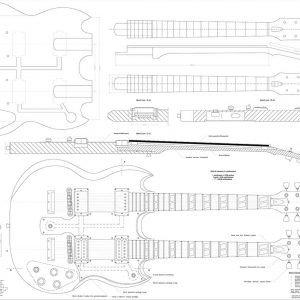 Guitar Neck Profile Template Gibson Double Neck Esd 1275 Guitar Templates