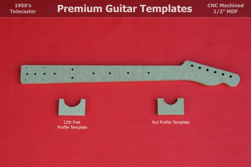 Guitar Neck Profile Template Telecaster Guitar Neck Router Templates W Back Profiles