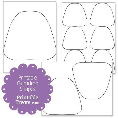 Gumdrop Coloring Page Free Printable Gumdrop Shapes — Printable Treats