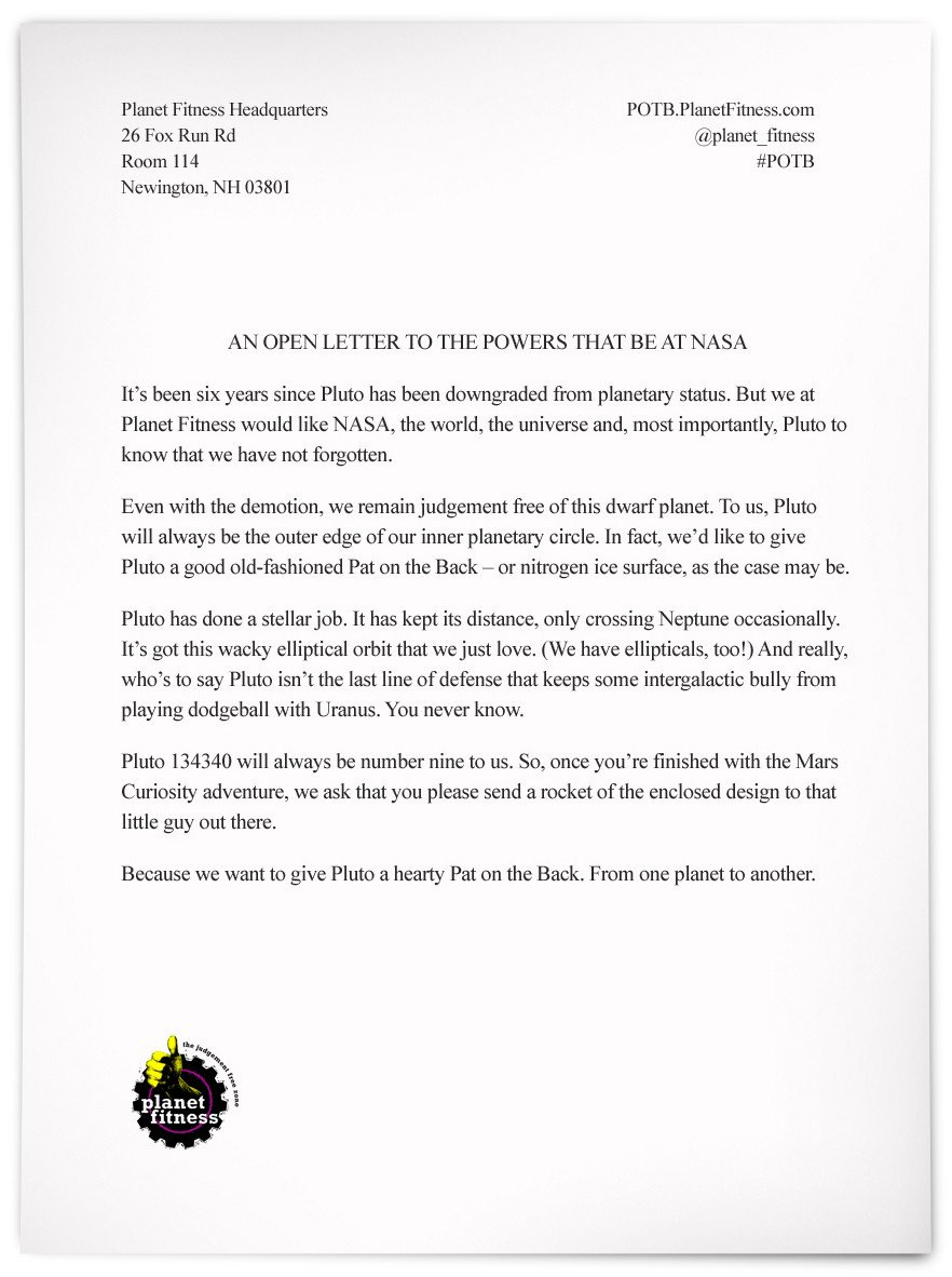 Gym Membership Cancellation Letter Planet Fitness Gives You A Pat On the Back
