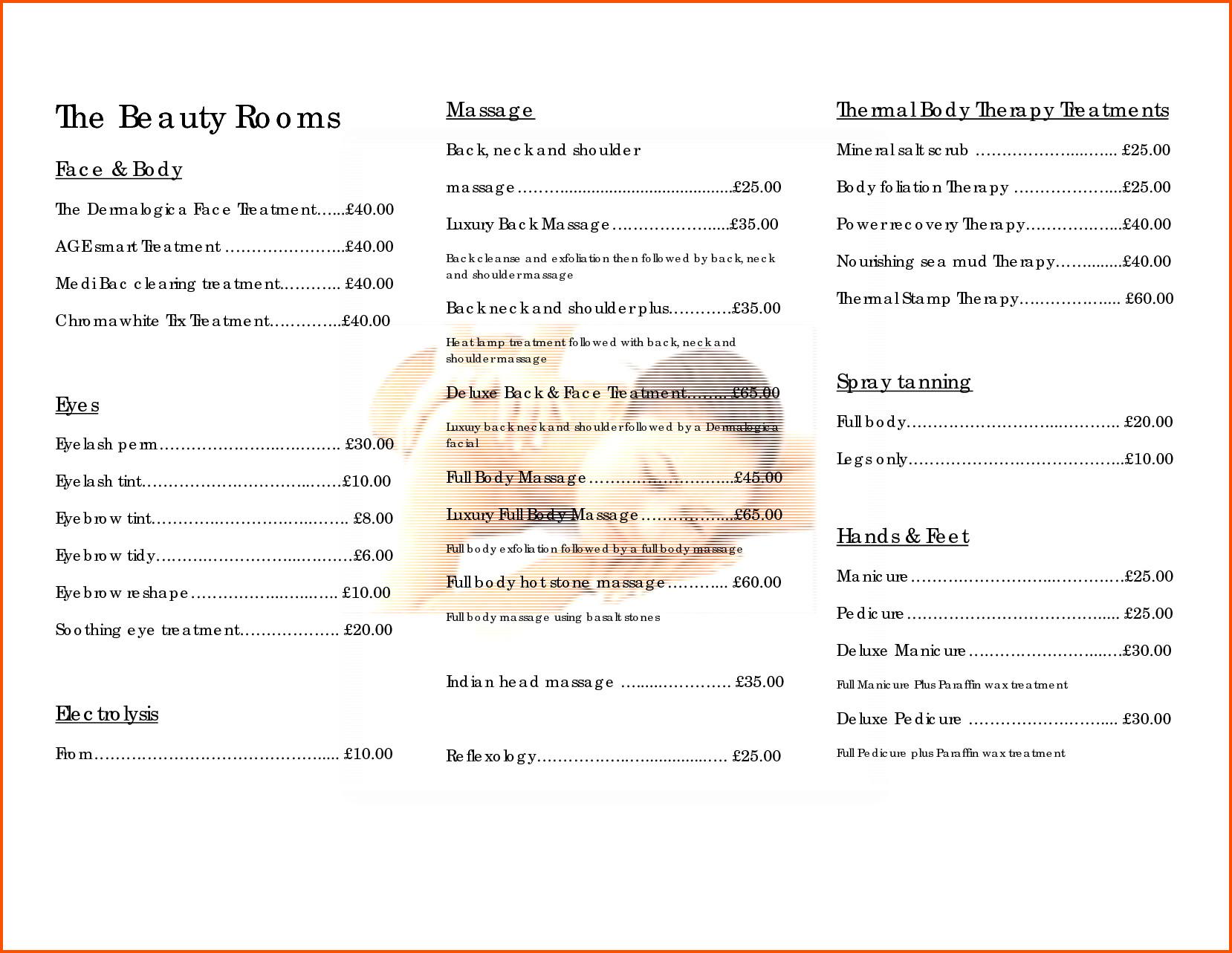 Hair Salon Price List Template 10 Salon Price List Template