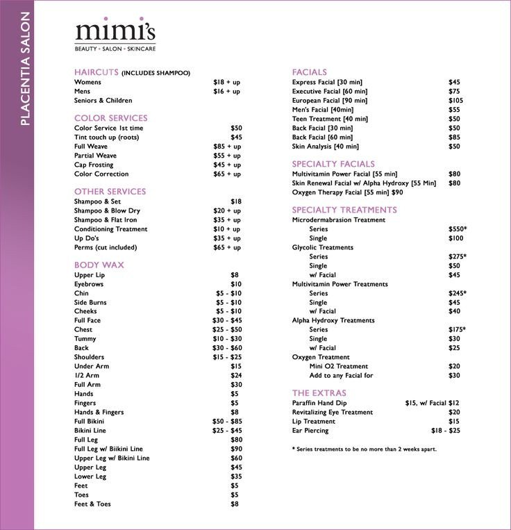 Hair Salon Price List Template Salon Price List Idea A Good Guide to Start with